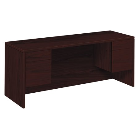 HON 10500 Series Kneespace Credenza With 3/4-Height Pedestals, 72w x 24d,
