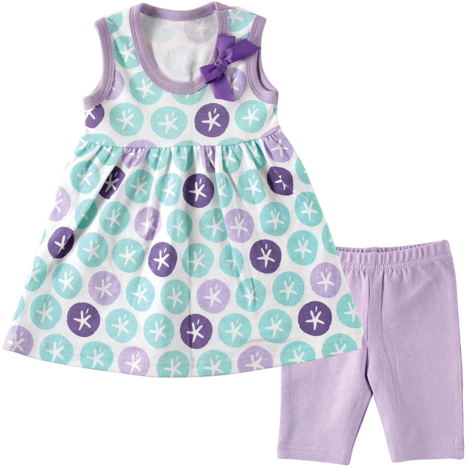 Hudson Newborn Baby Girls' Dress and Leggings, Choose Your Color ...