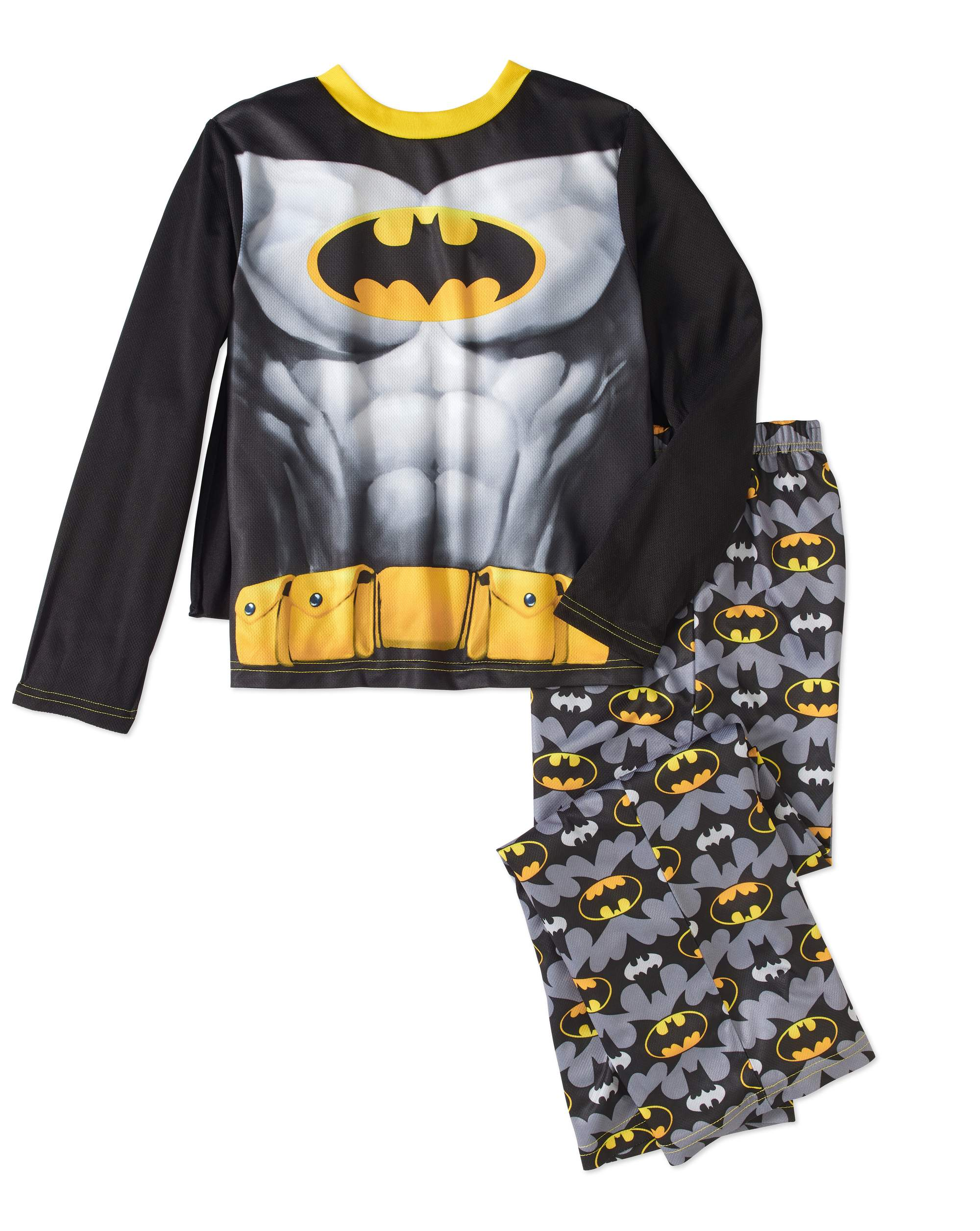 Batman Boys' 2-Piece Mesh Pajama Set With Cape by