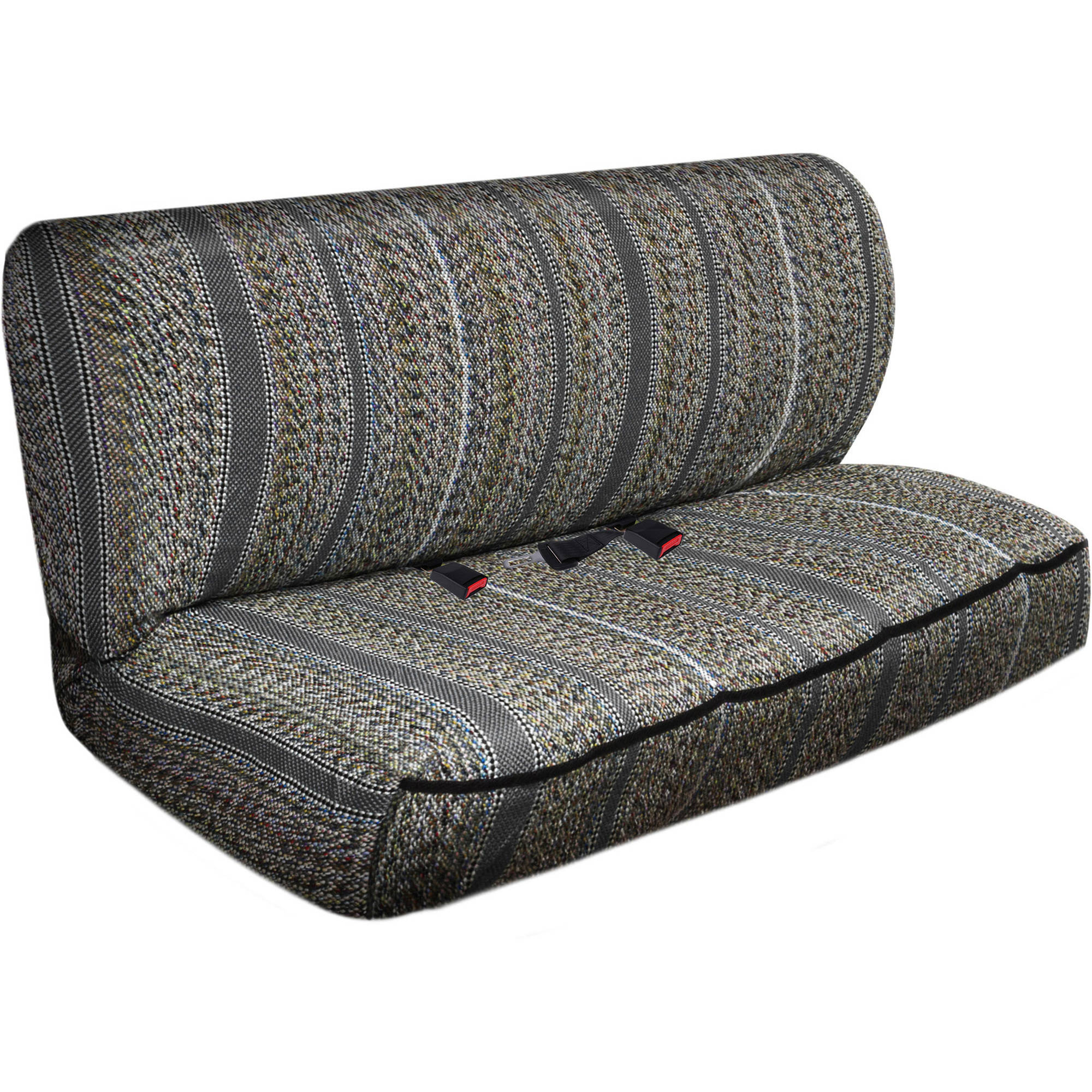 OxGord 2-Piece Full Size Heavy Duty Saddle Blanket Bench Seat Covers, Gray