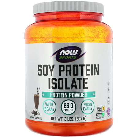 Now Foods  Sports  Soy Protein Isolate  Creamy Chocolate  2 lbs  907 g