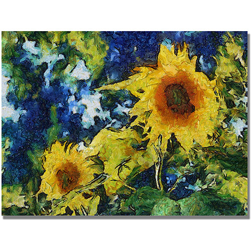 "Trademark Fine Art ""Sunflowers"" Canvas Art by Michelle Calkins"