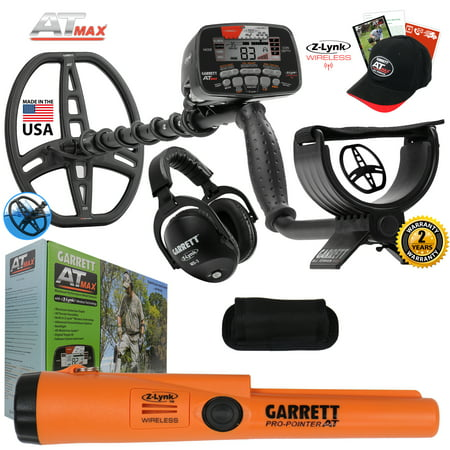Garrett AT MAX Waterproof Metal Detector with Pro Pointer AT Z-Lynk