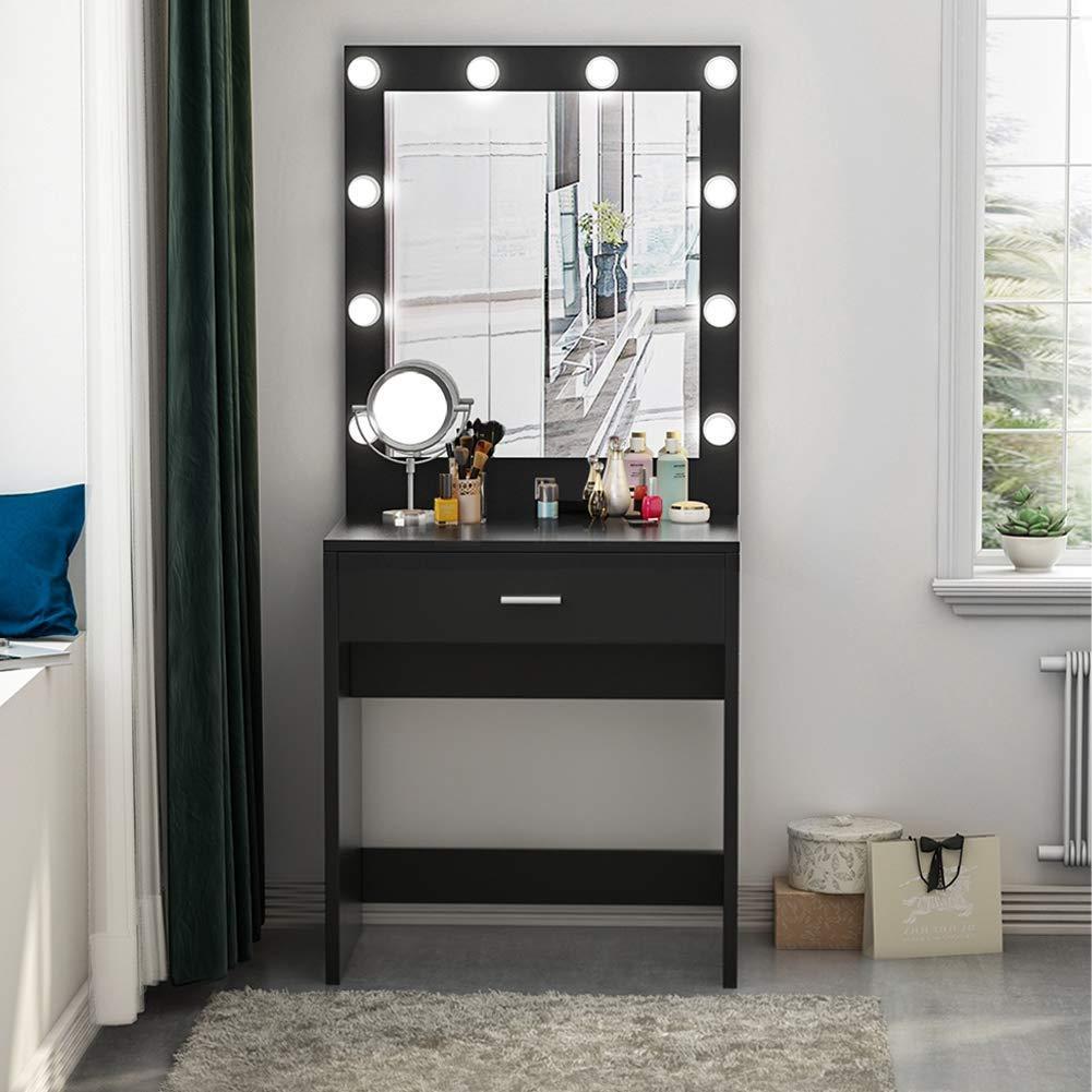 Tribesigns Vanity Set With Lighted Mirror Makeup Vanity Dressing