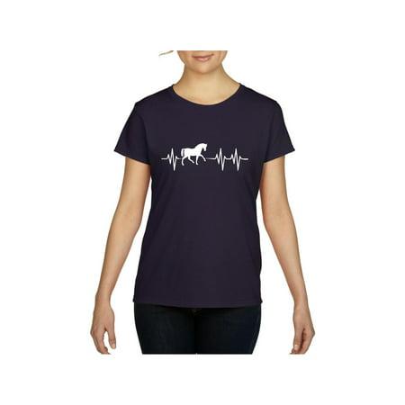 Horses Women's Short Sleeve T-Shirt (Horse T-shirt Designs)