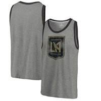 f8327495544 Product Image LAFC Fanatics Branded Distressed Primary Logo Tri-Blend Tank  Top - Heathered Gray
