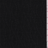 Pearl Black Pleated Knit, Fabric By the Yard
