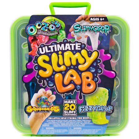 Ultimate Slimy Lab with SLIMYGLOOP, Fizzygloop, SQUOOSH-O's & OOZ-O's, Gift for Kids, Ages 6+ (Slide Maker)