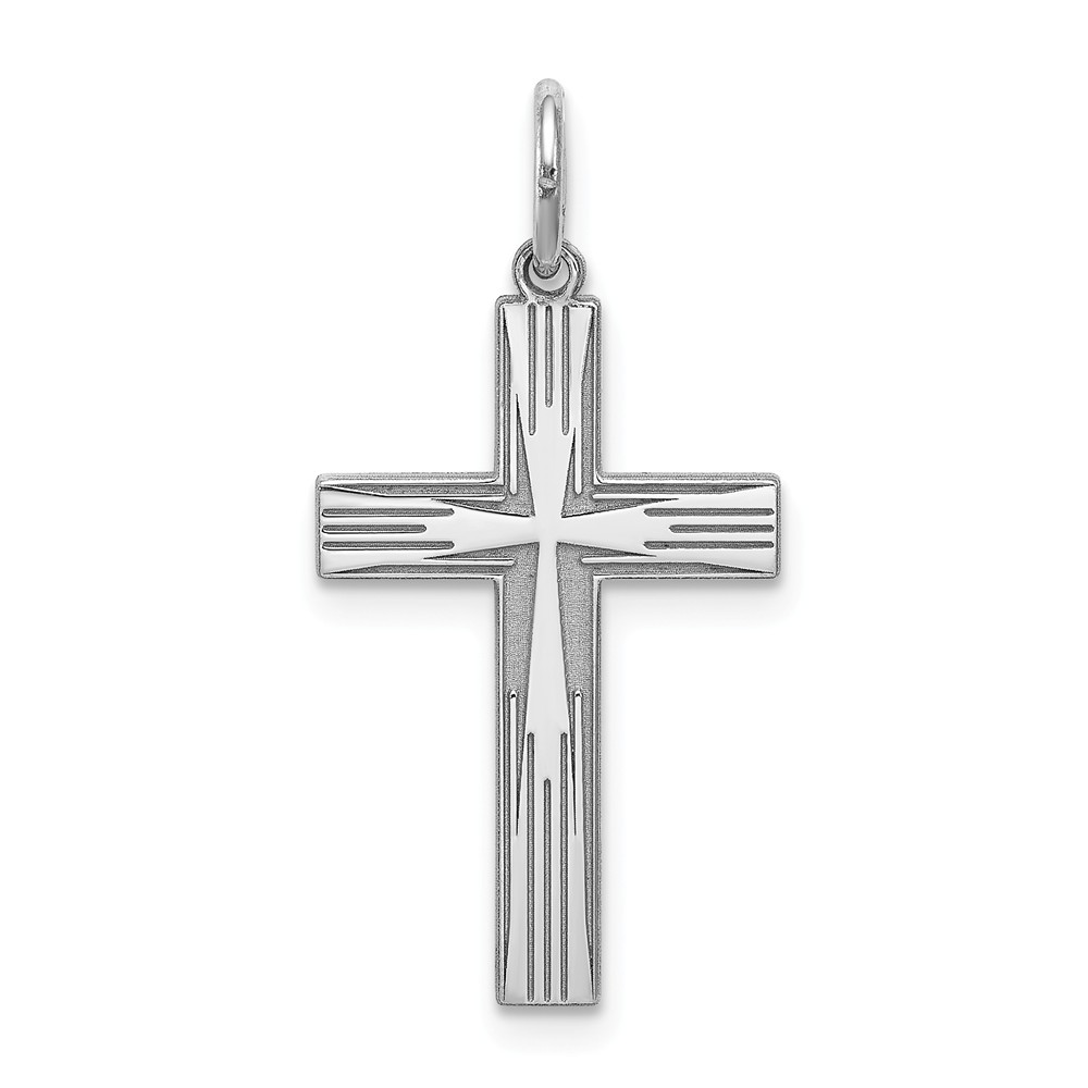 Sterling Silver Laser Cut Latin Designed Cross Pendant
