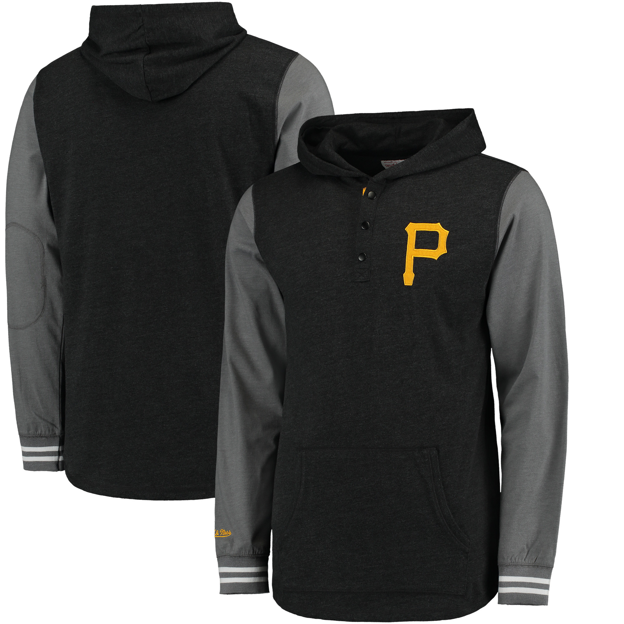 Pittsburgh Pirates Mitchell & Ness Mid-Season Hoodie - Black/Charcoal