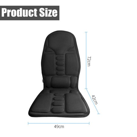 2 IN 1 8 Motor Massaging Back Massage Seat Pad Home Car Massager Chair Cushion  - image 10 of 10