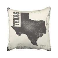 ARTJIA Graphic Texas Map Stamp Retro Distressed Insignia With Us State Usa Hipster America Pillowcase Cover 18x18 inch