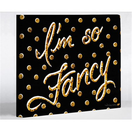 one bella casa 73068wd8 8 x 10 in. i am so fancy dots canvas wall decor by timree - black & (Fancy Back Decor Canvas)