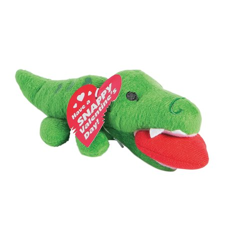 Fun Express - Plush Valentine Alligator for Valentine's Day - Toys - Plush - Stuffed Reptile & Insect - Valentine's Day - 12 (Valentine Travel Express)