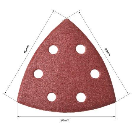 Mouse Detail Sander Sandpaper Pads Flocking Sanding Paper 6 Hole 180 Grits 5pcs - image 3 of 5