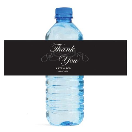 100 Modern Wedding Anniversary Shower Water Bottle Labels