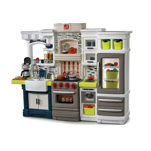 Step2 Elegant Edge Kitchen Play Set with 78 Piece Accessory Set by Step2