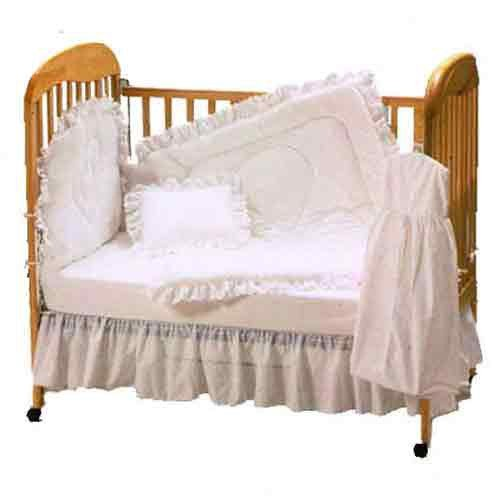 Baby Doll Bedding Carnation Eyelet Crib Bedding Set