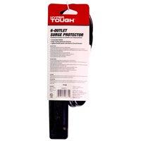 Hyper Tough 6 Outlets 2.5ft Surge Strip 500j Black