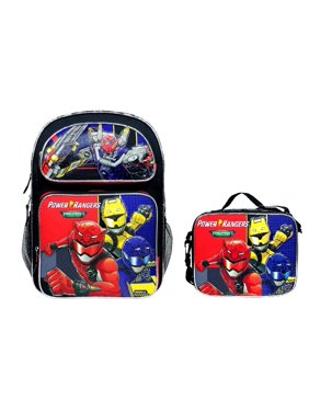 NEW Power Rangers Beast Morphers Large Backpack Plus Lunch Bag Set