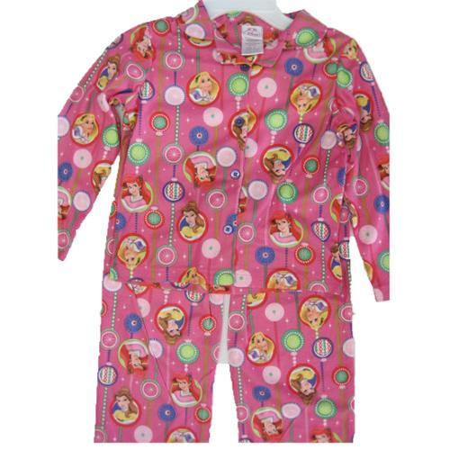 Disney Girls Pink Princesses Bubble Images 2 Pc Pajama Set 8-10