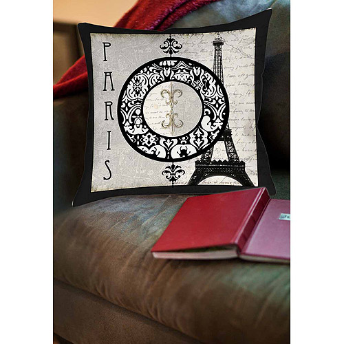 Thumbprintz Paris Circle Eiffel Tower Indoor Pillow