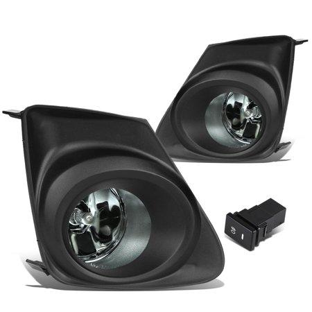 For 2011 to 2013 Corolla E140 Pair of Bumper Driving Fog Lights w / Bezel & Switch (Smoke Lens) 12