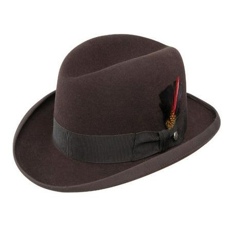 0f6c6e1a2e53c Stetson Fur Felt Homburg Hat - Walmart.com