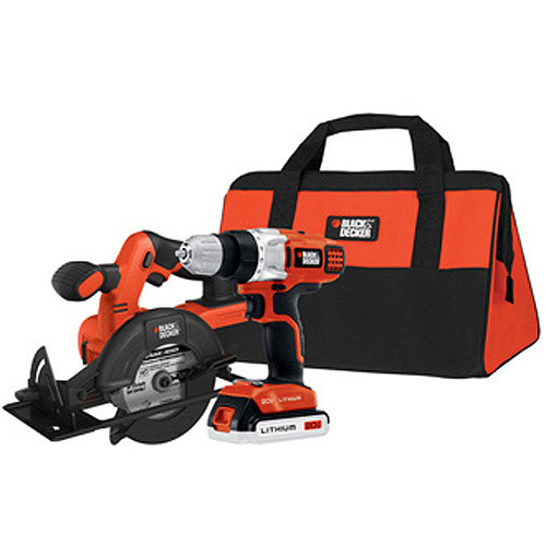 Black and Decker 20V MAX Lithium Drill and Circular Saw Kit, BDCD220CS