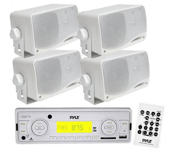 Click here to buy In-Dash Marine AM FM Radio USB SD Stereo Player Recevier Aux-In (for iPod MP3) by Pyle.