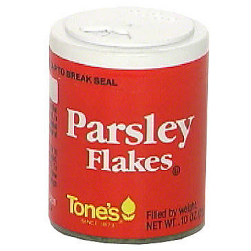 Tones Parsley Flakes, .10 oz (Pack of 6)