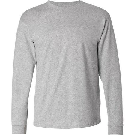 edc2b5a0796c Mens Long Sleeve Shirt Crew Neck Solid Plain Cotton T Shirt - Walmart.com