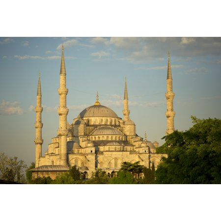 (Sultan Ahmed Mosque Istanbul Turkey PosterPrint)