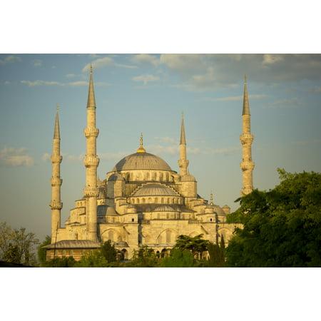 Posterazzi Sultan Ahmed Mosque Istanbul Turkey Canvas Art - Ron Dahlquist  Design Pics (38 x -