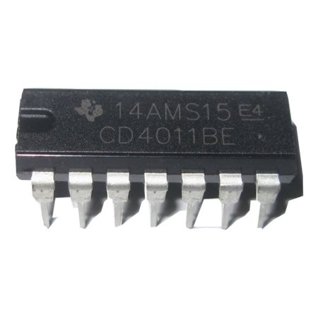 CD4011B CD4011BE CD4011 CMOS Quad 2-Input NAND Gate DIP14 15 Pack, By Texas Instruments From USA