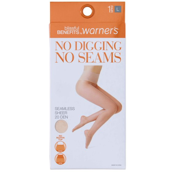 f6429ccd35122 Blissful Benefits by Warner's - No Digging, No Seams Sheer Pantyhose, 1  Pair - Walmart.com