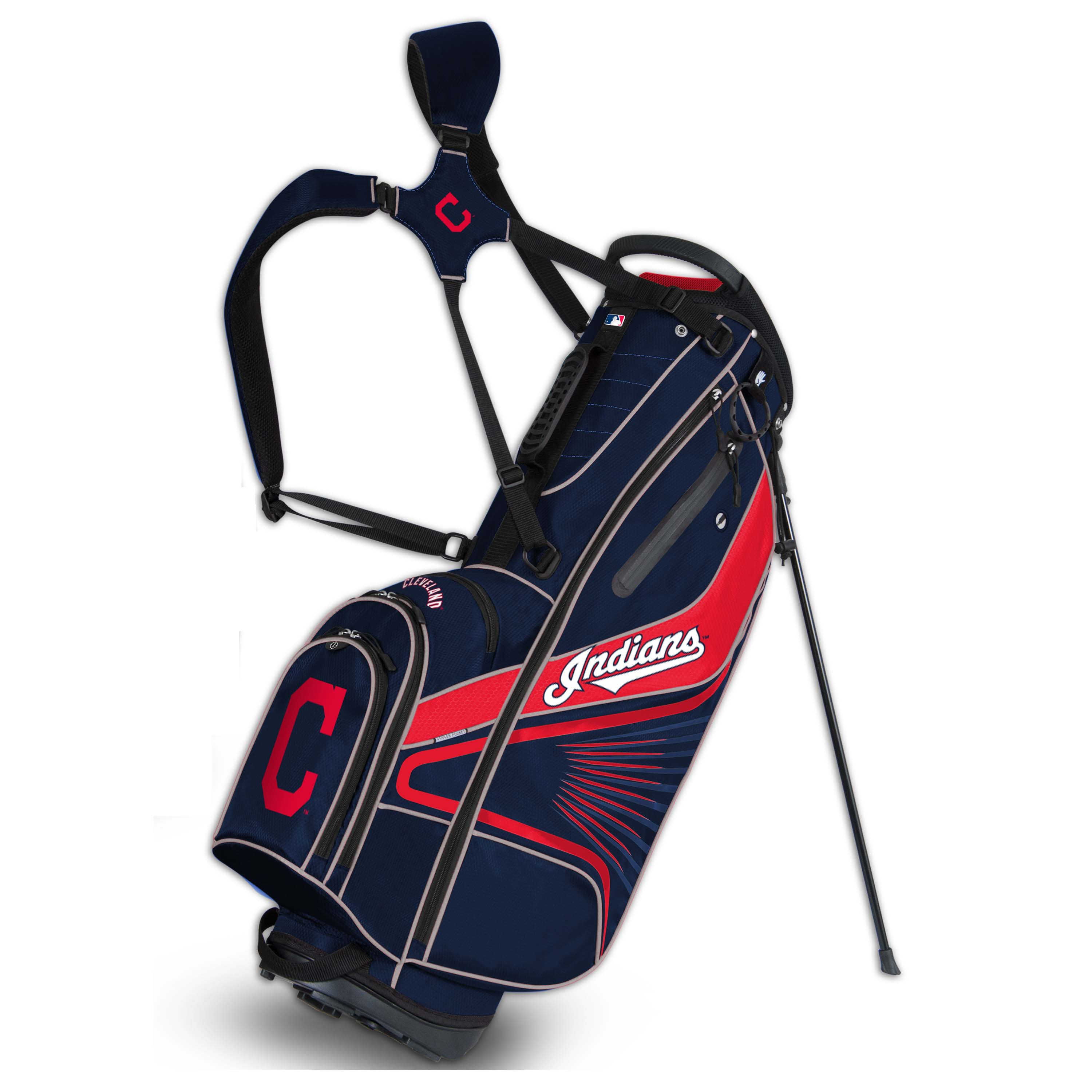 Cleveland Indians Gridiron III Golf Stand Bag - No Size