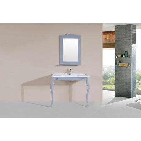 40 Marina Gray Single Traditional ADA Bathroom Vanity with Integrated