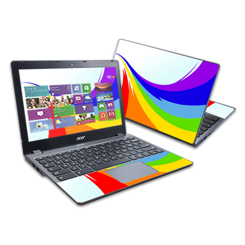 """Mightyskins Protective Skin Decal Cover for Acer C720 Chromebook 11.6"""" wrap sticker skins Beaming Heart"""
