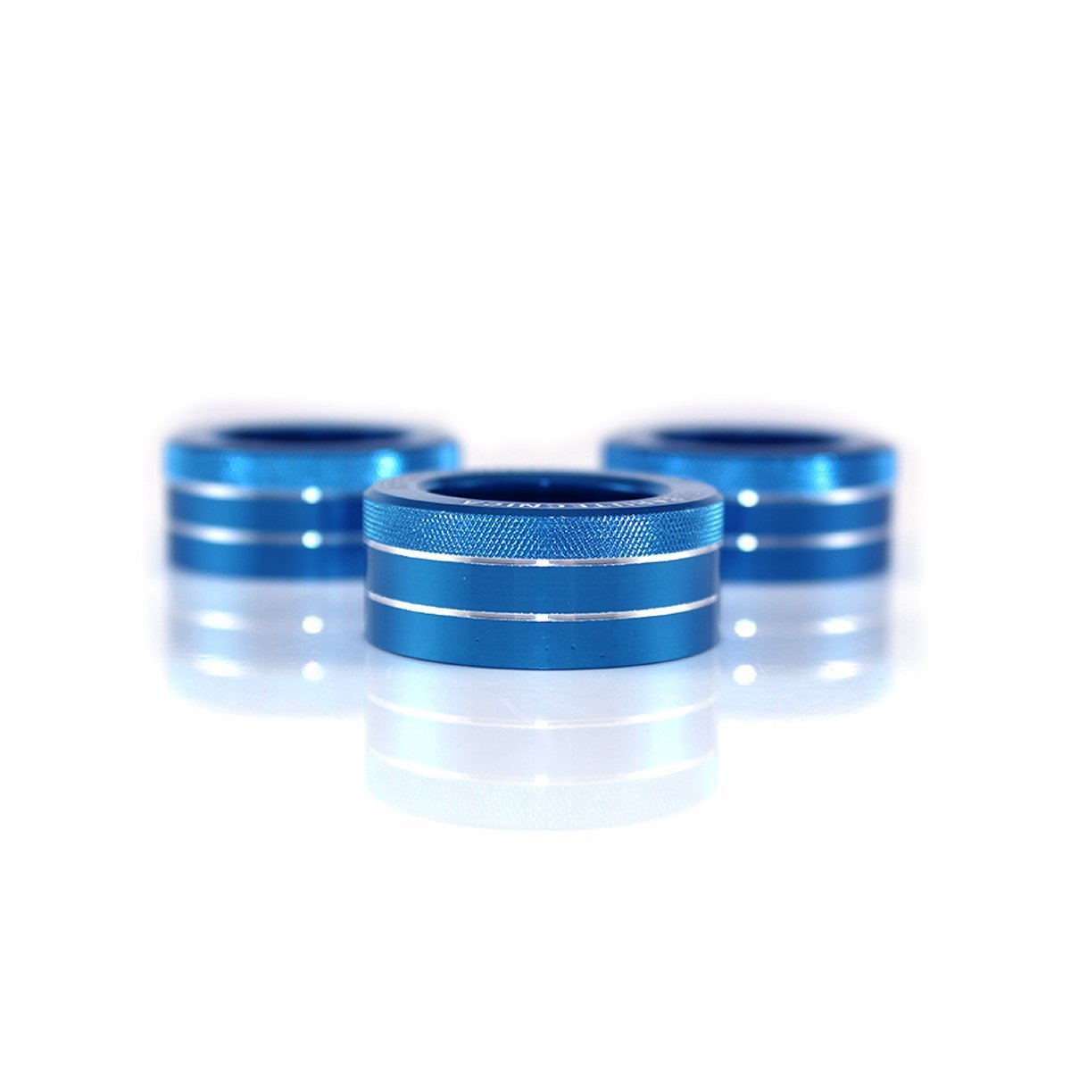 3x 3x AC Knob Control Volume Blue Cover Rings Trim for Subaru BRZ GT86 FT86 FR-S