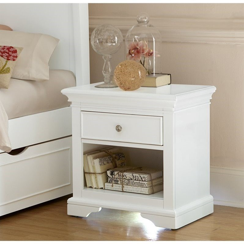 NE Kids Walnut Street Nightstand in White
