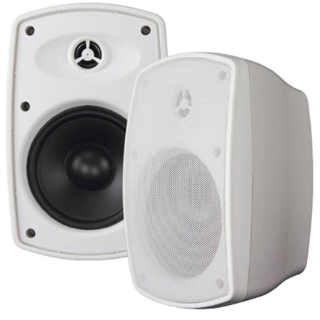 OSD Audio BTP-525WHT 5.25″ 75W Bluetooth 2-Way Patio Poly Woofer, White