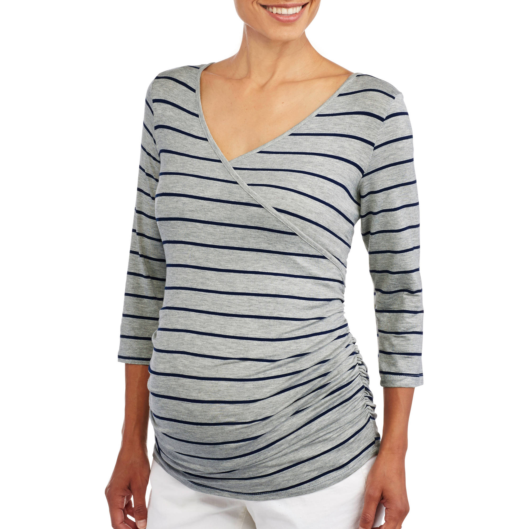Planet Motherhood Maternity 3/4 Sleeve Nursing Tunic