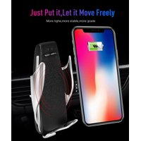 Jeobest Wireless Car Charger Mount - Car Charger Mount Holder - Automatic Wireless Locking Car Charger for iPhone Android Air Vent Phone Holder 360 Degree Rotation Charging Mounting Bracket MZ