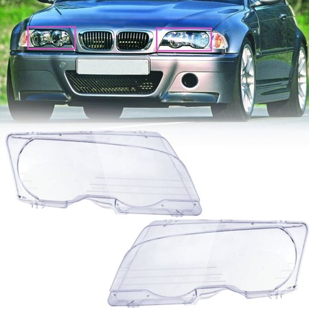 - AUDEW Pair Left & Right Side Headlight Clear Lens Replacement For  E46 2DR / M3 2001-2006