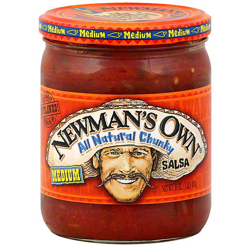 Newman's Own Medium Chunky Salsa, 16 oz (Pack of 12)