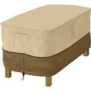 Classic Accessories Veranda Rectangular Patio Ottoman/Side Table Cover - Durable and Water Resistant Outdoor Furniture Cover, Small (71992)