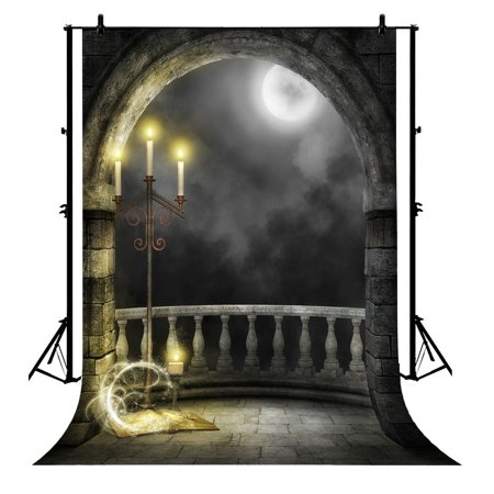 GCKG 7x5ft Halloween Moon Polyester Photography Backdrop Photo Background Studio Props - image 4 of 4