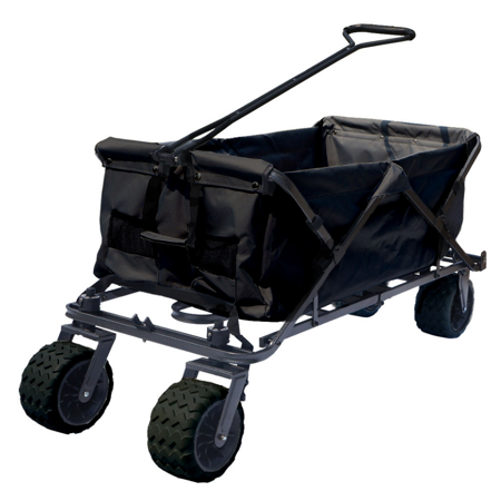 Impact Canopy Folding Utility Wagon, Collapsible, All Terrain Beach Wagon,