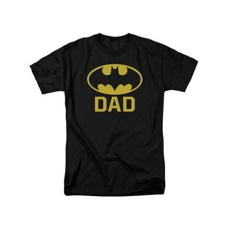 Classic Adult Comics (Batman DC Comics Bat Dad Classic Logo Adult T-Shirt)